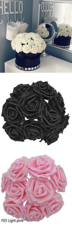 WARMWORD 1Pc Plastique/&Tissu Faux Roses Fleurs Artificielles Plantes pour La Maison Garden Party Fausse Fleur Decoration BU