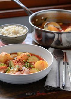Spicy Tuna and Potato Stew