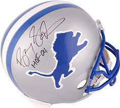 Barry Sanders Detroit Lions Autographed Riddell Replica Helmet with HOF 04 Inscription  Fanatics Authentic Certified >>> You can find more details by visiting the image link. (This is an affiliate link and I receive a commission for the sales)