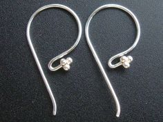 2x STERLING SILVER CZ CRYSTAL EAR WIRE FRENCH HOOK EARWIRE EARRINGS #1281