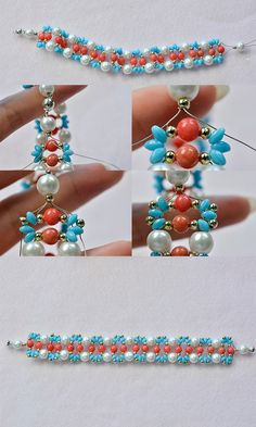 Beaded bracelet, like it? LC.Pandahall.com will release the tutorial soon.
