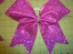 Hot Pink Shattered Glass Cheer Bow * Squad School Color Guard Softball Volleyball Soccer Football Cheer Gift TEAM DISCOUNT by TheCheerBowBabe on Etsy