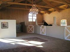 Elegant but open walled with attached yards. This is the way to do stables!
