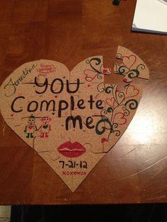 Valentines puzzle present for my boyfriend