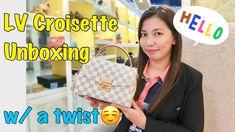 Louis Vuitton Unboxing LV Croisette Damier Azur ❤️ Bag Talks by Anna ❤️ Louis Vuitton Damier, Anna, Youtube, Pattern, Bags, Handbags, Patterns, Model, Youtubers