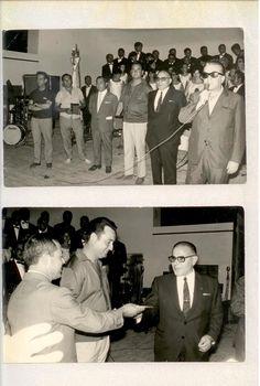 """Campeonato Nacional de albañilería 1969 en Villena, Torrevieja campeona, cuadrilla de Jose Antonio Montesinos """"El Cano"""", formada por """"El Sento"""" y """"El Zafra""""."""