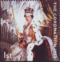 50th Anniversary of Coronation 1st Stamp (2003) Queen Elizabeth II in Coronation Robes (photograph by Cecil Beaton)