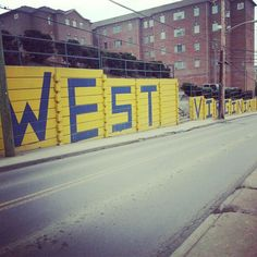 The infamous West Virginia Wall! so proud to be part of the wonderful APO- responsible for the repainting and care of this mountaineer heritage :)