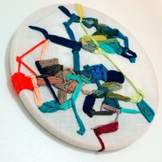Textile Artists: 10 to Watch -- Kate Keara Pelen created these embroidered pieces with a wonderfully dynamic, modern feel.