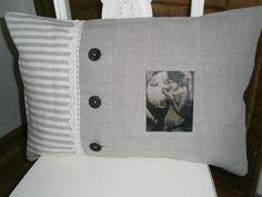 Kissenbezüge - Kissenbezug aus altem Leinen 40X60cm - ein Designerstück von GraefinvomDeich bei DaWanda