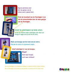 Gebruiksaanwijzing Veters zonder strikken en knopen   www.baggie.eu