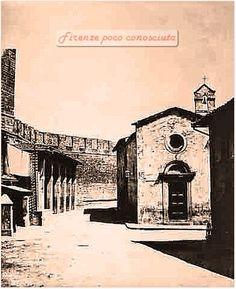 Porta di San Gallo ancora con le mura poi dempolite per costruire i viali e piazza della Libertà, verso il 1880
