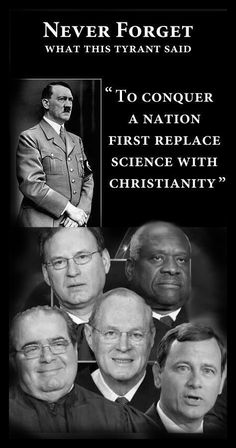 What does it say when these republican Supreme Court justices ignore separation of church and state, one of the basic principals our nation was founded on?