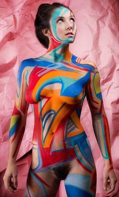 "ccbobina: "" Body paint with Huremics and J Walking """