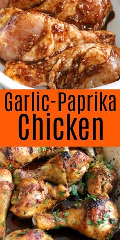 Baked Garlic Paprika Chicken Drumsticks Life is hectic enough, getting a flavorful dinner on the table that won't break the bank doesn't have to be! Baked Garlic Paprika Chicken drumsticks are easy and affordable made with simple pantry ingredients. Baked Chicken Drumsticks, Baked Chicken Legs, Garlic Chicken, Chicken Drumstick Marinade, Simple Chicken Marinade, Easy Chicken Drumstick Recipes, Grilled Chicken Drumsticks, Chicken Thigh Marinade, Chicken Paprika