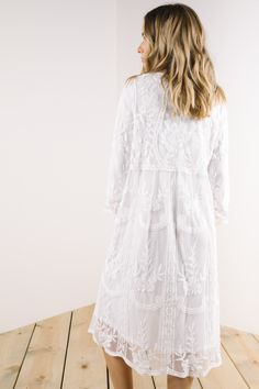 The Rehearsal Lace Dress in White