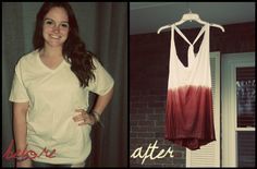 Ombre Tank DIY: Tutorial