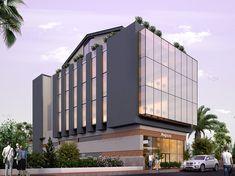 Hospital Architecture, Facade Architecture, Banks Building, Building Design, 3d Architectural Rendering, Commercial Center, Shop Buildings, Industrial Architecture, Glass Facades