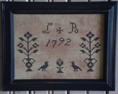 TWO OLDE CROWS FRAMED X~STITCH DESIGN