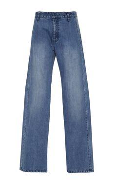 TIBI Denim Slouch Pants. #tibi #cloth #pants