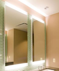 High-End LED lighted bathroom mirrors. Bathroom mirrors with LED lighting, Makeup Mirrors, Mirrored Cabinets, Mirror TV Covers and Smart Mirrors. Led Bathroom Lights, Bathroom Sconces, Bathroom Wall, Bathroom Lighting, Bathrooms, Mirror Tv, Lighted Mirror, Mirror With Lights, Electric Mirror