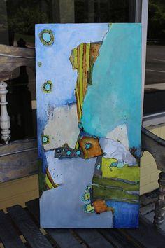 Original Modern Art Abstract Zen Painting cradled 12 x 24
