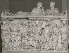 Wk 11 Sarcophagus of Balbinus and/or his wife, marble, Catacomb of Praetextatus, Rome, 238