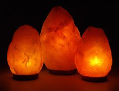 I just LOVE these Hymalayan Salt lamps! I have one in almost every room in my house. They are beautiful AND actually good for you!