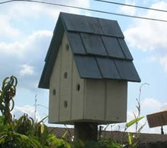 How to Build a Wood Bird House - Lee& Wood Projects Bird House Plans, Bird House Kits, Homemade Bird Houses, Wooden Bird Houses, Cute Little Houses, Outdoor Furniture Plans, Pallet Furniture, Garden Furniture, Wood Bird