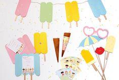 IJsjesfeest uitnodiging, trakteren, slinger en photobooth   © Papiergoed