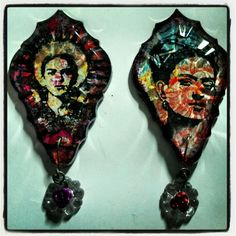 Frida kahlo pendants by yoli manzo #sacredyolidesigns