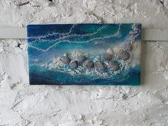 felt pebbles abstract felt art abstract water by SueForeyfibreart, £55.00