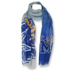 Memphis Tigers Ombré Scarf from Forever Collectibles® Fleece Scarf, Hooded Scarf, Wool Scarf, Campus Style, Memphis Tigers, Striped Scarves, Kids Wear, Womens Scarves, Tartan