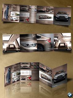 BMW quad fold brochure design Simple Yet Beautiful Brochure Design… Booklet Design Layout, Leaflet Layout, Company Brochure Design, Leaflet Design, Layout Design, Design Design, Brochure Indesign, Template Brochure, Brochure Folds