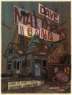 Dave Matthews Band June 12th, 2015 at the Xfinity Theatre in Hartford, Conn. Illustration/Design: Dan Black