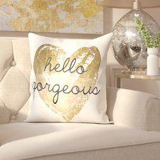 Tally Gorgeous Salute Velvet Throw Pillow