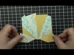 cardmaking video ... Easy Starburst (Sunburst) Card Technique - Version 2 by Dawn O ... great video tutorial ... luv the patterned papers in yellows and aquas ... Stampin' Up!