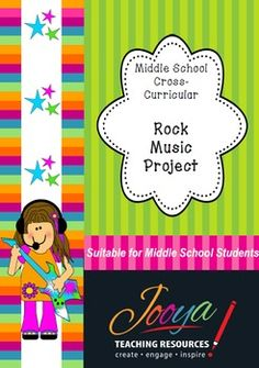 Middle School Rock Music ProjectI have used this project with my Year 8 students for a number of years with great success and high completion rates. The project is handed out while they are completing the Instruments of Rock and Pop Unit (see my store for this product), but could be done without this unit of work.