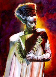 La novia de Frankenstein. #Ilustracion de Chris Kuchta