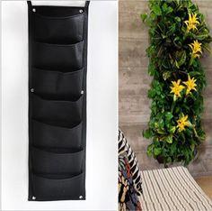 $19 + $5.50 s/h - 7 Pocket Hanging Vertical Garden Wall Planter, indoor/outdoor, Easy Garden