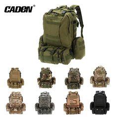 Outdoor custom 60L waterproof hiking velcro tactical military backpack bags