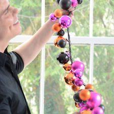 HALLOWEEN BALL GARLAND Glitterville 6 Feet Long Festive Fun