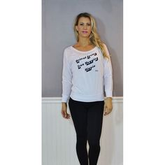 FTLA Apparel White Off The Shoulder Flowy Pullover - Animal Loving Tree Hugging Hippie | XS-2XL