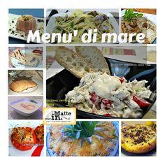 Il menù di mare è pensato per chi desidera presentare un intero pasto a base di pesce. E anche il dolce è adatto a chiudere una cena marinara!