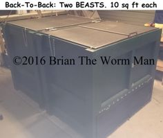 Build a continuous flow through worm bin using the plans for Fishing worm farm