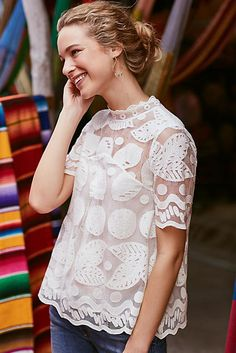 victorian style white lace top