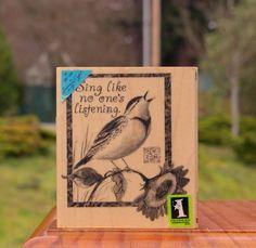 Sing Like No One's Listening Wood Mounted Rubber Stamp Susan Winget Inkadinkado 725718021863 | eBay