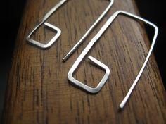 geometric sterling silver earrings. geometric earrings. by Splurge