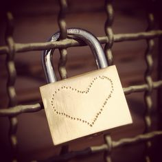 A 'Lock of Love' on Cologne's Hohenzollern Bridge #cologne #germany