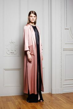 Most Standout Looks Resort 2015 | Adam Lippes, silk pink robe